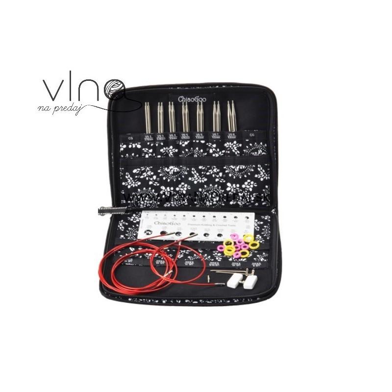 ChiaoGoo TWIST RED Lace sada 13cm 2.75-5.00mm